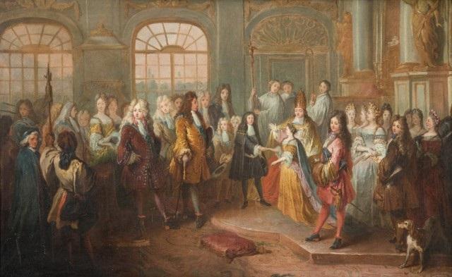 le mariage de louis de france duc de bourgogne et de marie adélaïde de savoie le 7 décembre 1697 by antoine dieu