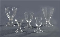 a group of 28 glasses by gerard muller