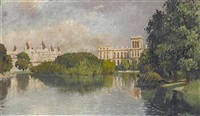 the foreign office from st. james park, london by yoshio markino