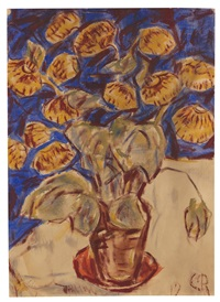 pantoffelblume by christian rohlfs