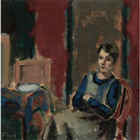 woman seated in an interior by joseph floch