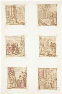 the story of psyche (6 works) by leonardo corona