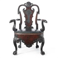 a george i style commode armchair by francis henry lenygon