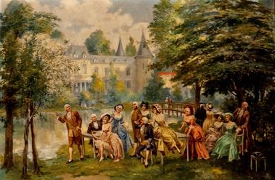 reunión en el jardín by carlos alonso perez