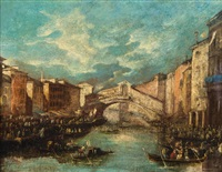 canale grande mit ponte rialto in venedig by francesco guardi