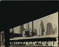 new york skyline, c. 1940 by berenice abbott