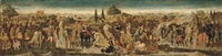 a battle scene (a cassone front) by giovanni di ser giovanni di (lo scheggia) simone