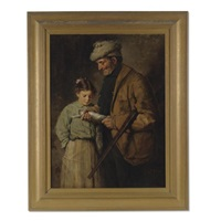 hunter with young girl by lawrence carmichael earle