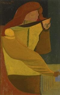 woman writing by robert colquhoun