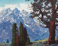 sierra mountains by william h. kay