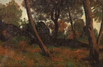 forest scene from bornholm denmark by julius paulsen