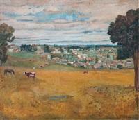 paisaje de pueblo by carmelo de arzadún