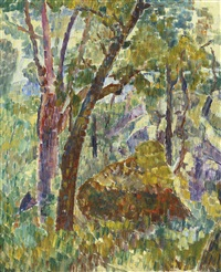 rocks in the bush by grace cossington smith
