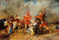 l'attaque des brigands by jean-léonard lugardon
