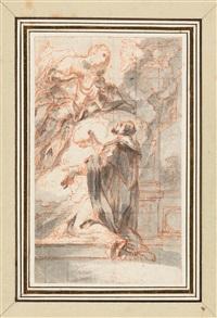 die madonna erscheint einem heiligen by abraham van diepenbeeck