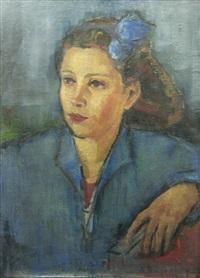 woman in blue by dan bajenaru