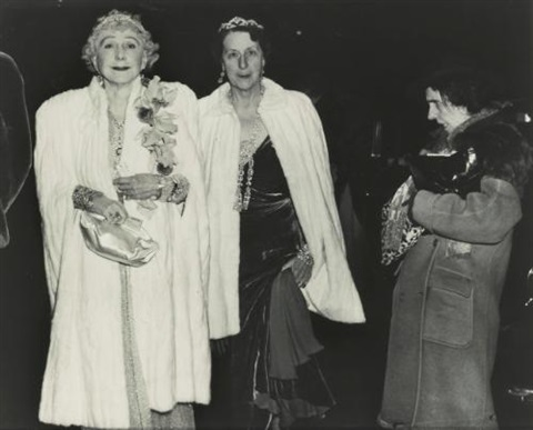 the critic opening night at the metropolitan opera by weegee