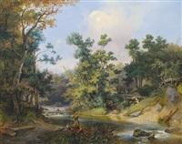 waldlandschaft by josef holzer