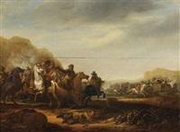 une escarmouche by abraham van der hoef