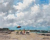 la plage by louis edouard garrido