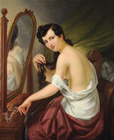 femme à la toilette by charles picque