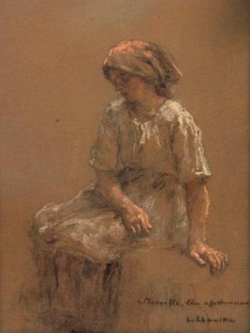 femme au repos by léon augustin lhermitte