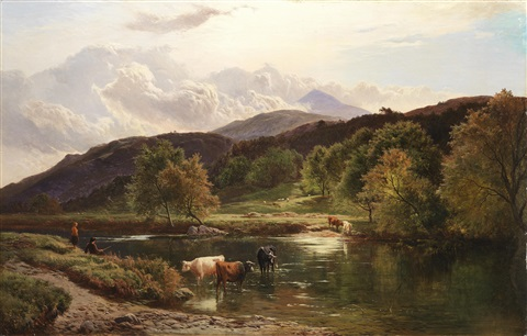 on the llugwy near capel curig by sidney richard percy