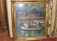 harbor scene by maud hall (rutherford) neale