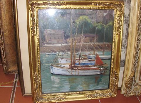 harbor scene by maud hall rutherford neale