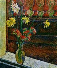 vase mit blumen by walter bondy