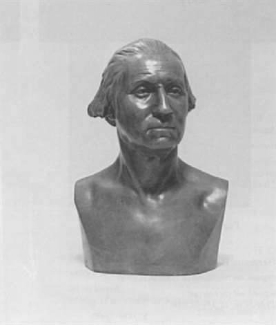 bust of george washington after jean antone houdon by wilson macdonald