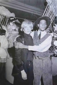 andy warhol and jean-michel basquiat at aero club, ny by ben buchanan
