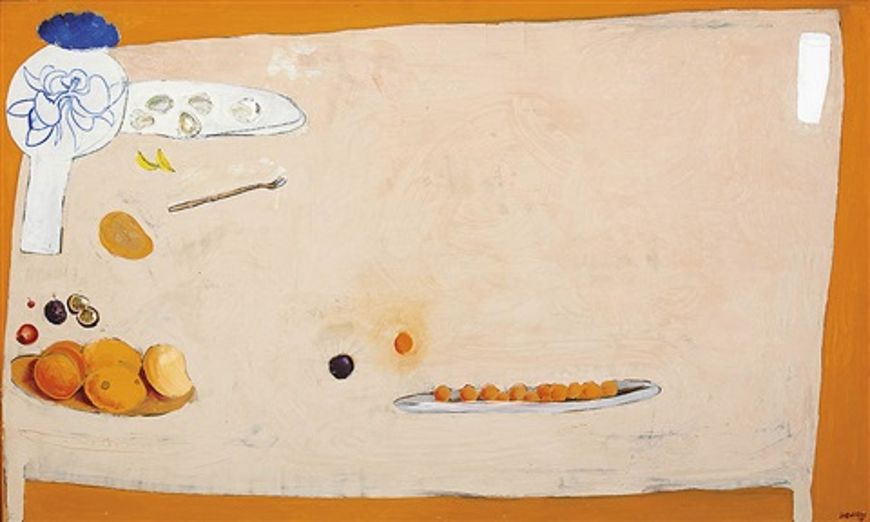 the orange table by brett whiteley