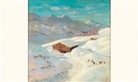 le chalet sous la neige by piotr livoff ivanovitch