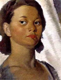 portrait of a lady by bernard fleetwood-walker