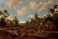 entrée de village animé by cornelis droochsloot