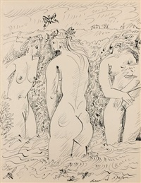 baigneuses au papillon by andré masson