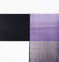 exposed painting schevening black, red, violet by callum innes