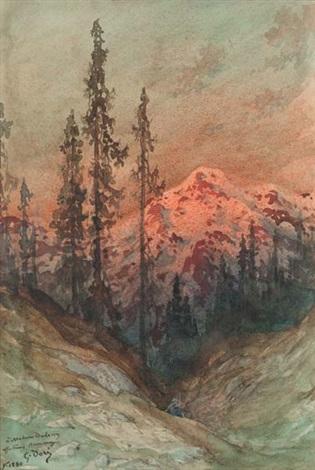 crépuscule en montagne by gustave doré