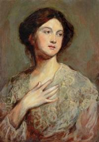 woman portrait by bertalan székely von adámos