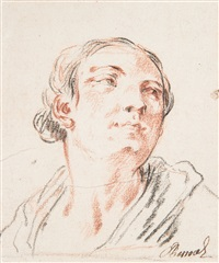portrait de femme by charles parrocel