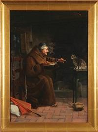 mnich karmiacy kotka by adolfo bacci