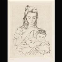 la mere et l'enfant by pierre rowland renoir