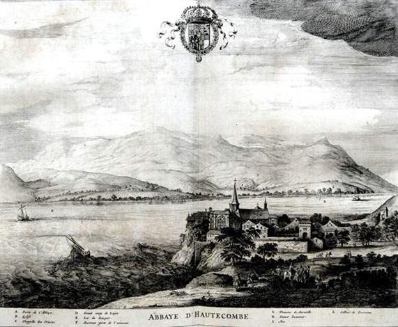 abbaye dhautecombe from theatrum statuum regiae celestudinis sabaudiae ducis by johannes de broen