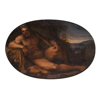 hercules reclining by francesco albani