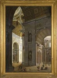 intérieur de saint pierre de rome by pietro francesco garoli