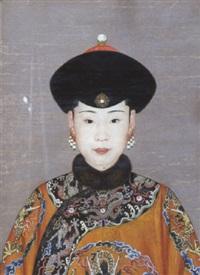 portrait de la concubine chun-hui by jean-denis attiret