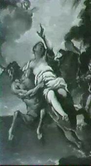 nessus and deianeira by francesco (della polcevera) campora