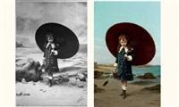 jeune fille au parasol by jules emile saintin
