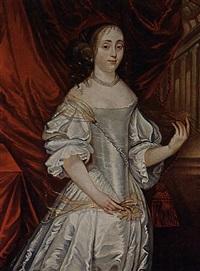 a portrait of jhr jacoba alexandrina hermeline baronesse van wassender duvenvoorde, hofdame van prinses van oranje by h.v.l. josselin de jong